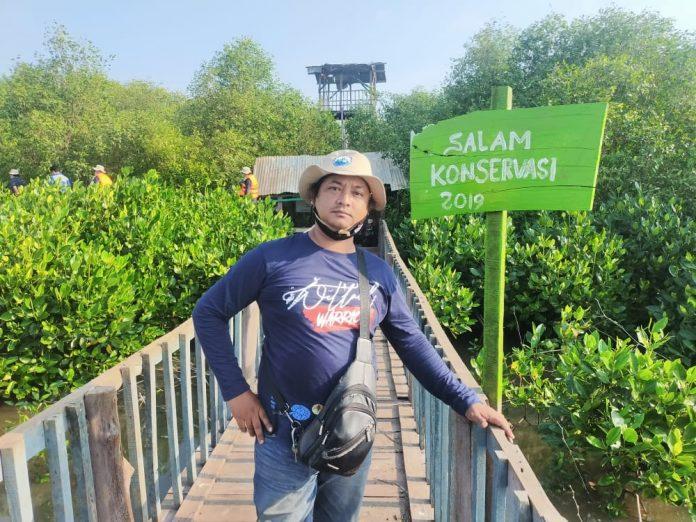 Salah satu Sudut Lokasi Konservasi Hutan Manggrove Yang ada di Kawasan Muara Ujungpangkah Gresik