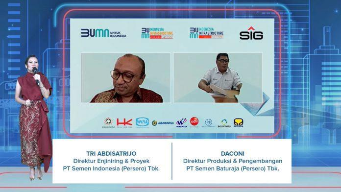 Direktur Engineering & Project SIG, Tri Abdisatrijo pada saat peluncuran Indonesia Infrastructure Research & Innovation Institute (I2RI) & Indonesia Infrastructure Learning Institute (I2LI) klaster BUMN Infrastruktur secara virtual.
