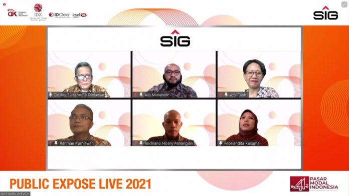 Manajemen SIG pada acara Public Expose Live 2021.